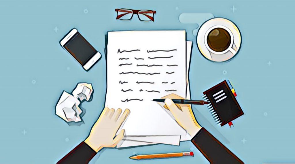 ディスクリプションの書き方を表現するイラスト